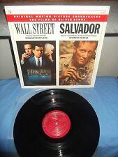 "Stewart Copeland/Georges Delerue ""Wall Street/Salvador "" LP VARESE SARABANDE USA"