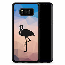 Samsung Galaxy s8 Plus-funda silicona negro Flamingo chicas mujeres Dam