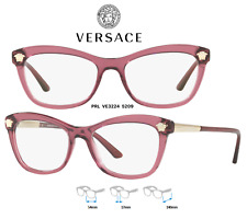 1d524bce86e Authentic Versace Eyeglasses Ve3224 5209 Transparent Violet Frames 54mm  Rx-able