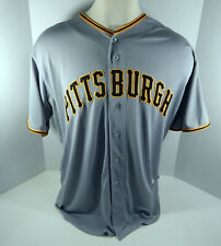 Pittsburgh Pirates Blank # Game Issued Grey Jersey 52 PITT32673