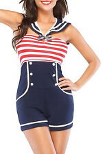 Navy Red White Women Pin up Sailor Role Play Costume LC8847 high fashion
