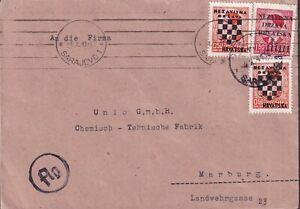 "1941 CROATIA Official ""Deutsches Konsulat Sarajevo superb mixed"