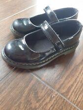 Dr Martens Chicas Tamaño 13 Zapatos Escolares Negro Patente