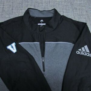 ADIDAS SOFT POLY 1/4 ZIP GOLF PULLOVER--L--VALOR LOGO---TOP SPOTLESS QUALITY!!