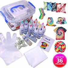 Tie Dye Kit - 18 Vibrant Colours Fabric Textile Paints, Permanent One-Step