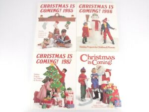 Christmas Is Coming Vintage Kids Holiday Craft Books Lot of 4 1985 - 1988 Oxmoor