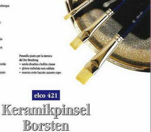 ELCO-421 - Borsten-Pinsel - Dry-Brush-Pinsel - Set mit 4 Flachpinseln - Gr. 4-12