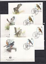 Hungary 1983 - FDC - Vogels/Birds/Vögel  WWF/WNF