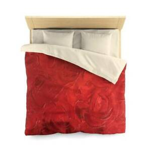 Red Passion Design Abstract Art Polyester Duvet Cover Artistic Quilt Blanket in