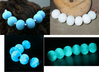 Glow -  Handmade Glass Lampwork Beads SRA MTO - Glow in the Dark NEW Colors!***