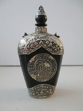 Antique Sino Tibetan Silver Ox Horn Snuff Bottle DETAILED 550B