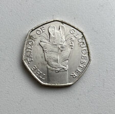 The Tailor Of Gloucester - Beatrix Potter Tailor Of Gloucester Mouse 50p coin