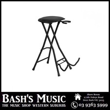 On Stage Guitarist Stool with Footrest and Guitar Stand