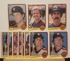 Pre-owned ~ 1983 Donruss Houston Astros Baseball Cards (Garner, Knight, Howe