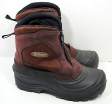 Ranger Men's Brown Leather Snow Boots Sz 8 Front Zipper Insulated Cold Winter