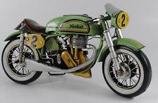 Vintage Hand Made tinplate Metal 1962 Norton Navigator Motorcycle Sculpture