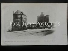 c1905 - Black Gate and Old Castle, Newcastle-on-Tyne - Pub: Auty Series