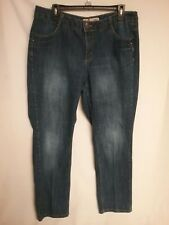 25de685426b JMS JUST MY SIZE Embellished Straight Leg Denim Jeans Womens Plus Size 16W