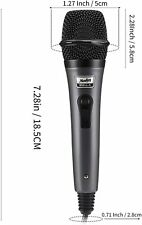 Moukey Dynamic Cardioid Home Karaoke Microphone, 13 ft Xlr Cable Metal