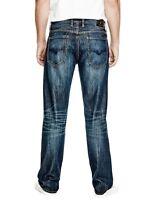 Guess Homme Décontractée Jeans Jambe Droite en Throttle Ride Lavage Taille 28X30