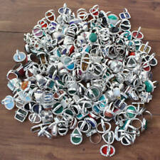 Rings Mix lot Silver Plated Antique Handmade Gemstone Fashion Jewellery