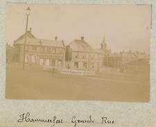 Norvège, Hammerfest, la grande rue   vintage albumen print,Photos provenant d&