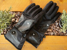 Luxury Heated Electric Black Gloves Rechargeable Cycling Motorbike Ski Raynaud