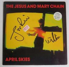 "THE JESUS AND MARY CHAIN Signed Autograph ""April Skies"" 45 rpm 7"" Vinyl Record"