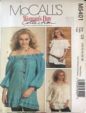 McCall's Woman Day pattern M5401 Misses' Tops size 10, 12, 14, 16, 18, 20 uncut