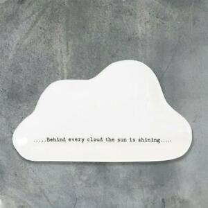 East of India | Wobbly Cloud Dish | Behind Every Cloud The Sun Is Shining | Gift