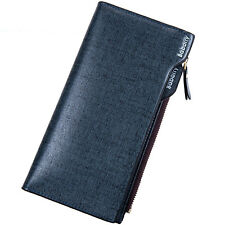 Fashion Medium Style Men's Soft Bifold Leather Zipper ID Credit Card Coin Wallet