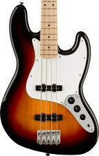 More details for squier affinity series jazz bass, maple fingerboard, 3-colour sunburst