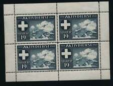 Schweiz Soldatenmarken Vignette Viererblock Flieger KP 19 (36338)