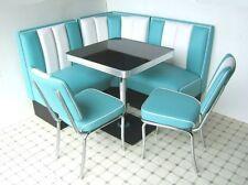 Retro Furniture 50s American Diner Restaurant Kitchen Corner Booth Set 130 x 130