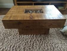 NEW SOLID WOOD PEBBLE COFFEE TABLE RUSTIC CHUNKY PLANK WOOD *available any size*