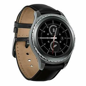 Used Smartwatch Samsung Gear S2 Classic *Stainless Steel & Genuine Leather Strap