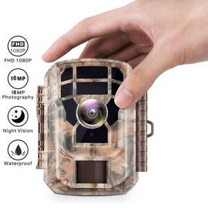 Mini Wildkamera 16MP FHD 1080P Nachtsicht Jagdkamera Wildtierkamera Außenkamera