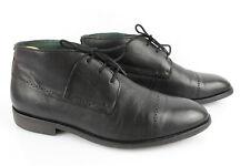 Kickers Stivali Scarpe Lacci Scarpe pelle Nero T 43 Ottime Condizioni