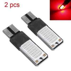 2pc  T10 194 168 2825 W5W COB LED Flash Strobe Car Side Light Bulb Lamp Red 12V