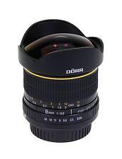 Dörr Fisheye Objektiv 8mm 1:3,5 für Nikon D3300 D3100 D3200 D5200 D5500 D5300
