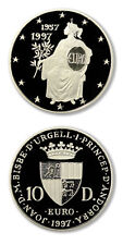 Andorra Treaty of Rome -Seated Europa 10 Diners 1997 Proof Silver Crown