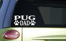 Pug Dad *H858* 8 inch Sticker decal dog groomer scissors harness