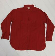 New listing vtg Shirt Roomy Richard Flannel Red Union Made Sanforized all cotton Gussets 50s