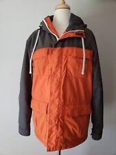 Old Navy Jacket Womens Small Orange Grey Winter Coat Hood Cold Weather
