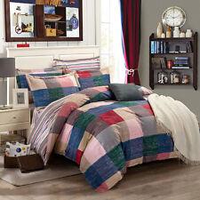 300TC 100% Cotton King Size Quilt Doona Duvet Blanket Cover Pillowcase 3Pc Set