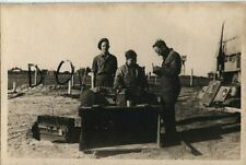 WW2 snapshot REME Royal Electrical Mechanical Engineers ? overhaul of Engine