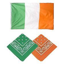 S. Patrizio bandiera irlandese con Verde & Arancione Cotone Bandana