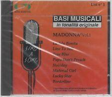 BASI MUSICALI IN TONALITA' ORIGINALE MADONNA  vol. 1 CD F.C. SIGILLATO!!!