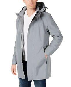 Calvin Klein Mens Jacket Gray Size 46R Rainwear Reflective Slim $350 #029