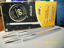BIC Silver Plated Anniversary Limited Edition Ball Pens x10 units. new.black ink